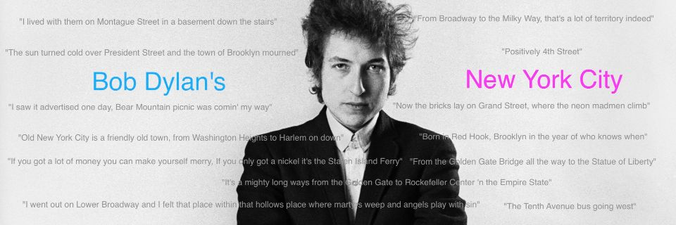 Bob Dylan's New York City - MAP | uebermaps